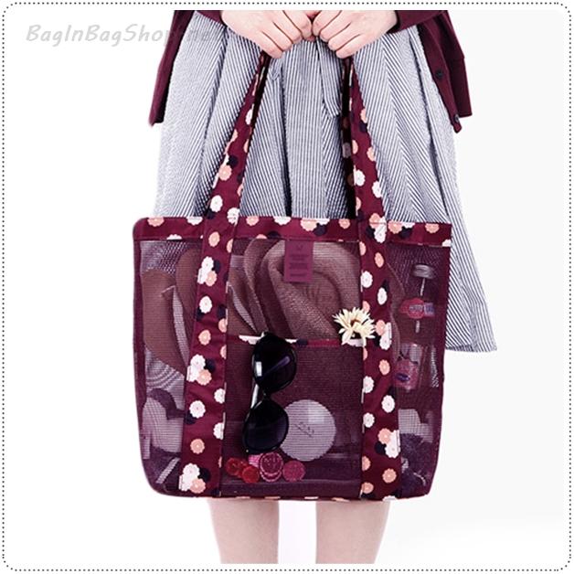 Coating Mesh Shopper Bag