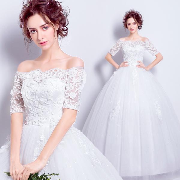 (Pre-Order) ชุดแต่งงาน <ไหล่ปาด> รหัสสินค้า WDL0809