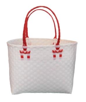 กระเป๋ากลาง ตัวขาว หูสีแดง (ATM-F6 )