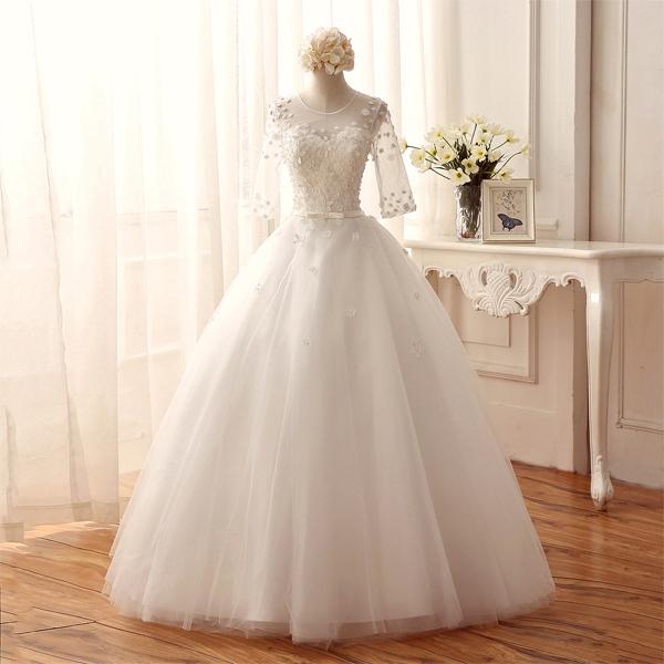 (Pre-Order) ชุดแต่งงาน <แขนยาว> รหัสสินค้า WDL0817