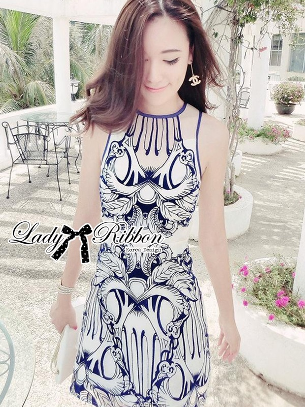 Lady Ribbon Lady Paula Glamorous Chic Italian Print Dress