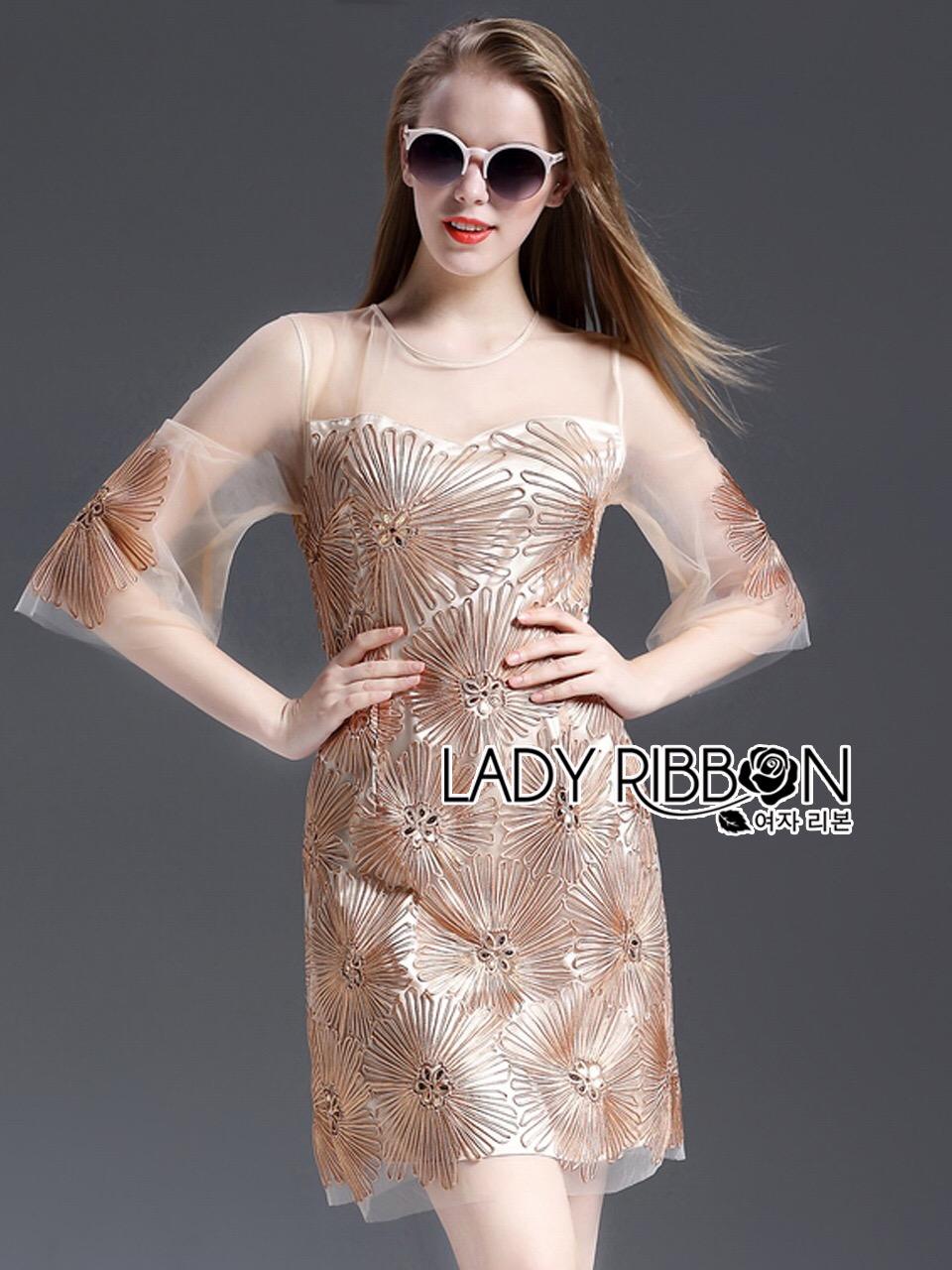 Lady Ribbon เดรสผ้าออแกนซ่า