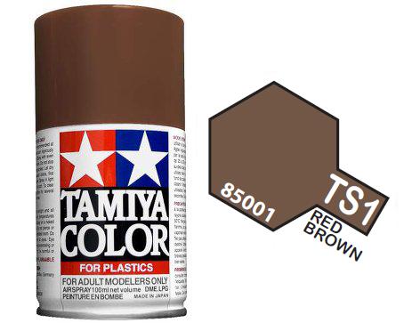 tamiya spary ts1 red brown