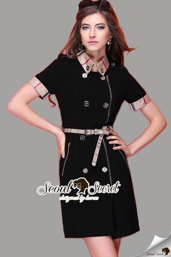 Seoul Secret Burberry Clasper Dress