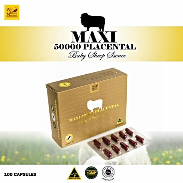 Maxi 50000 Placenta Baby Sheep Essence รกแกะ แม็กซี่