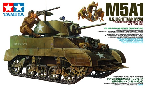 TA35313 M5A1 W/4 FIGURES 1/35