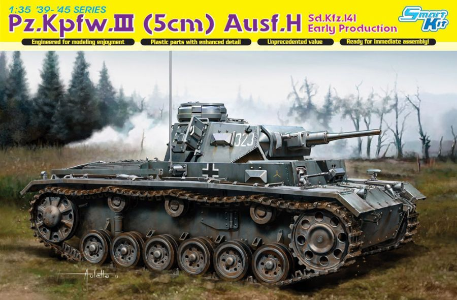 DRA6641 Pz.Kpfw.III(5cm) Ausf.H sd.kfz.141 Early Production 1/35