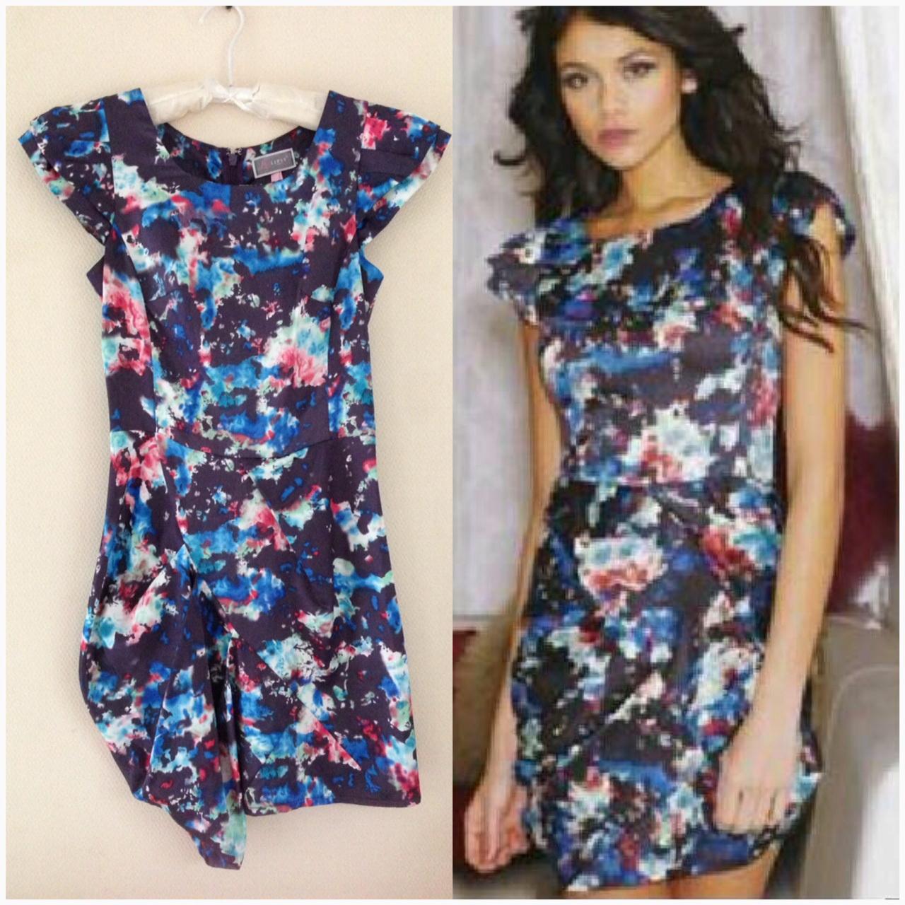 ASOS Floral Cap Sleeve Dress Size uk8