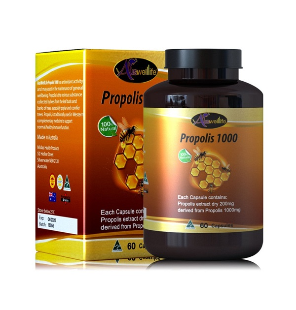 Auswelllife Propolis 1000 mg. โพรพอลิสเข้มข้น จากออสเตรเลีย