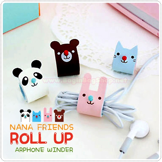 Nana Friends roll up Earphone Winder