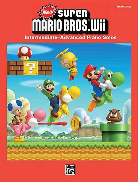 หนังสือโน้ตเปียโน New Super Mario Bros. Wii Piano Solo