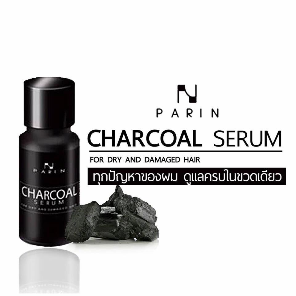 Charcoal Serum for Dry and Damaged Hair by Parin 15 ml. ชาร์โคล เซรั่ม ทุกปัญหาของผม ดูแลครบในขวดเดียว