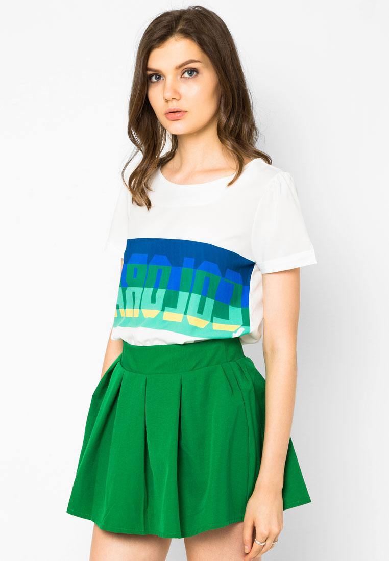 เซ็ตเสื้อเบลาส์และกระโปรง Coloran