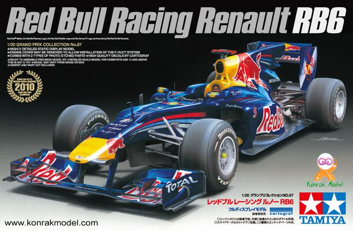 TA20067 Red Bull Racing Renault RB6 1/20