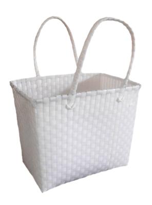 ตะกร้าจ่ายตลาด กลาง สีขาว (JLM-Wh)