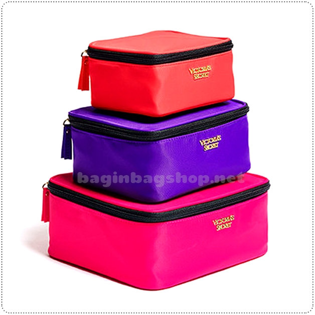 &#x2764️ VS Travel Trio Stackable Makeup Bag Train