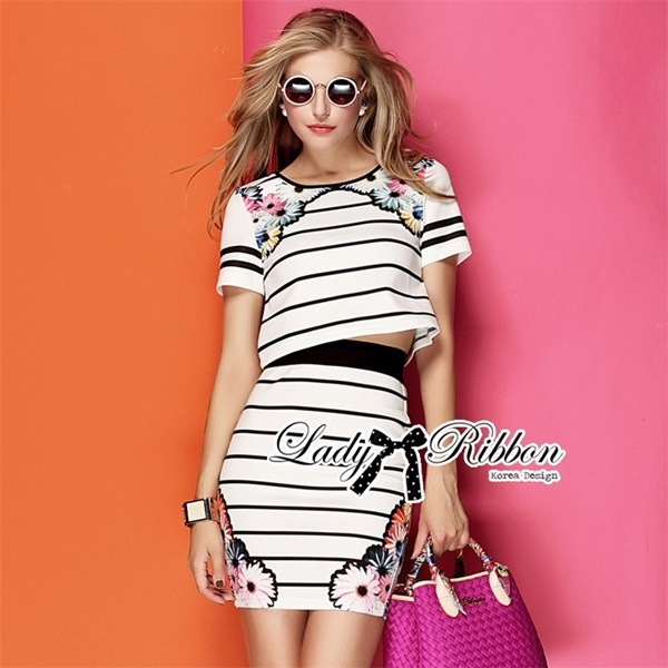 Lady Ribbon Blossom Graphic Play Striped Set
