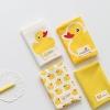 ผ้าคอตต้อนเกาหลีจัดเซต Rubber Duck - yellow four kinds ขนาด 27.5x45cm จำนวน 4 ชิ้น
