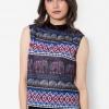 เสื้อเบลาส์ Vibrant Aztec