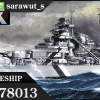 TA78013 German Battleship Bismarck 1/350