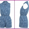 Miss selfridge denim Playsuit Size Uk10