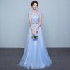 (เช่าชุดราตรี) ชุดราตรี <สีฟ้า> รหัสสินค้า EK_CEVL0826