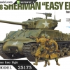 TA25175 U.S. Tank M4A3E8 Sherman Easy Eight (w/Figure 4pcs) 1/35