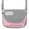 กระเป๋าสะพายใบเล็ก Sumikko Gurashi สีเทา-ชมพู