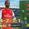 แผน FIFA ONLINE 3 - Arsenal ไร้พ่าย 4-2-3-1 ดาวทอง A