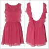 Rarelondon Chiffon Low pink Dress