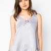 เสื้อเบลาส์ Rosette Hemline Sleeveless