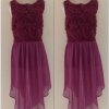 Miss Selffridge Purple tunic summer dress Size uk12