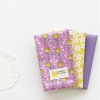 ผ้าคอตต้อนเกาหลีจัดเซต bebene (Violet) Three species ขนาด 27.5x45cm จำนวน 3 ชิ้น