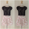 Topshop Floral Skirt Size Uk10=2