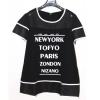 เสื้อยืด New York Mesh Patchwork