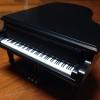 กล่องเพลงแกรนด์เปียโนไม้สีดำ