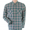 Topman Green Checked Shirt Size L