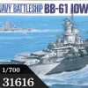 TA31616 U.S. Battleship Iowa (BB-61) 1/700