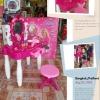 ชุดโต๊ะเครื่องแป้ง Flower Mirror กล่องใหญ่ พร้อมเก้าอี้นั่ง