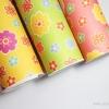 Felt : ลายดอกไม้ มี 3 สี เหลือง เขียว ชมพู size 2mm ขนาด 40x30 cm/ชิ้น (พร้อมส่ง)