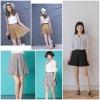 กางเกงขาสั้น High Waist Pleated Skirt