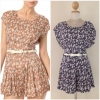 Yumi Playsuit Floral with Belt Size uk10