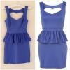 Topshop blue peplum dress สินค้าใหม่ ไชส์ uk 8