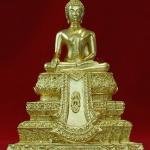 พระพุทธสิงหธรรมมงคล 3 นิ้ว (2 ถอด) โลหะปิดทอง อัญเชิญอักษรพระปรมาภิไธย ภปร. มาประดิษฐานไว้ทีผ้าทิพย์ พุทธสมาคมจัดสร้าง ปี 47 สวยครับ