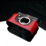 Gariz Leather Half-case for Leica M type 240 : Red