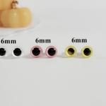 ลูกตาตุ๊กตาก้านเสียบ คริสตัล สี Yellow White Pink ขนาด 6mm/คู่