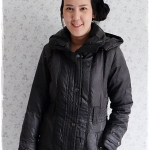 ((ขายแล้วครับ))((จองแล้วครับ))ca-2892 เสื้อโค้ทขนเป็ดสีดำเทา รอบอก36