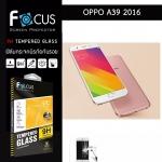 Focus ฟิล์มกระจกนิรภัย OPPO A39 กันรอยนิ้วมือติดเองได้ง่ายๆ