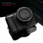 Gariz Leather Half-case for Canon G1X Mark II : Black