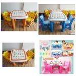 ชุดโต๊ะเขียนหนังสือเด็ก พร้อมเก้าอี้ 2 ที่นั่ง